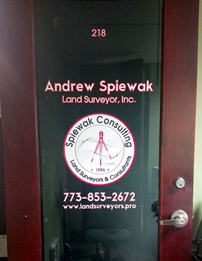 Land Surveyor, Inc. Office Door
